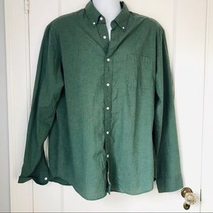 Men's J. Crew Green Slim Fit Button Down Shirt